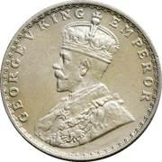 ½ roupie George V -  avers