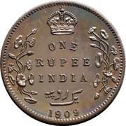 1 roupie - Edward VII -  avers