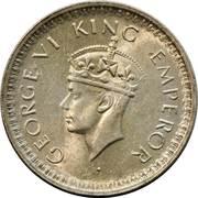 ½ roupie - George VI -  avers