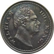 1 Rupee - William IV pattern – avers