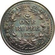 1 Rupee - William IV pattern – revers