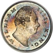 1 roupie - William IV -  avers