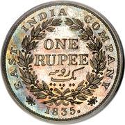 1 roupie - William IV -  revers
