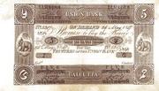5 Company Rupees (Union Bank) – avers