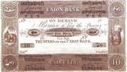10 Company Rupees (Union Bank, Calcutta) – avers