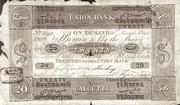 20 Company Rupees (Union Bank, Calcutta) – avers