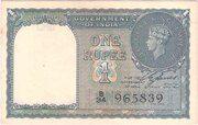 British India 1 Rupee KGVI 1944 (Third Issue) - Type 1 – avers