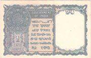 British India 1 Rupee KGVI 1944 (Third Issue) - Type 1 – revers