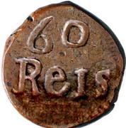60 Réis (Tanga) - João VI (Small armilar sphere, Goa mint) -  revers