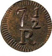 7½ Reis - Maria II -  revers