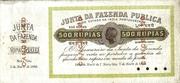 500 Rupias – avers