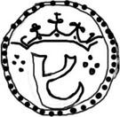 ½ Leal - João III (Goa mint) – avers