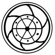 Roda de [Wheel of] 2 Bazarucos - João V (Damão mint) -  revers