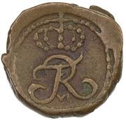 1 Cash - Frederik VI – avers
