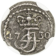 1 Royalin - Frederik IV -  avers