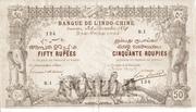 50 Rupees (Pondicherry) – avers