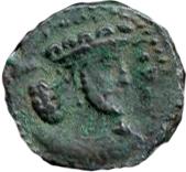 "Hemidrachm - ""Kushanshah"" Peroz I - 250-265 AD – avers"