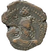 """Chalkous / ½ Pashiz - AE unit - """"kushansha"""" Hormazd I - 265-295 AD – avers"""
