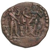 """Chalkous / ½ Pashiz - AE unit - """"kushansha"""" Hormazd I - 265-295 AD – revers"""