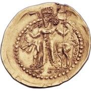 """Dinar of the Indo-Sassanid """"kushansha"""" Hormizd I (265-295 AD) – revers"""