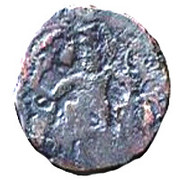 """Chalkous / ½ Pashiz - AE unit - """"kushansha"""" Peroz I - 250-265 AD – revers"""