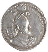 """Drachm - of the Indo-Sassanid """"kushansha"""" Peroz I - 250-265 AD – avers"""