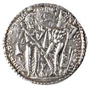 """Drachm - of the Indo-Sassanid """"kushansha"""" Peroz I - 250-265 AD – revers"""