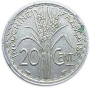 20 centimes – revers