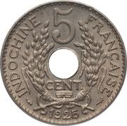 5 centimes (cupronickel) – revers