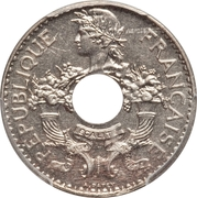 5 centimes (maillechort) – avers