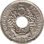 5 centimes (maillechort) – revers