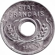 5 centimes (Etat Français) – avers