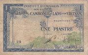 1 Piastre (Cambodia Issue) – avers