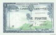 1 Piastre (Laos Issue) – avers