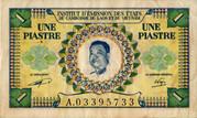 1 Piastre Laos Issue – avers