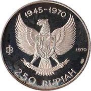 250 rupiah (Indépendance) – avers