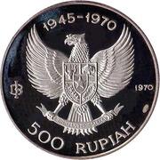 500 rupiah (Indépendance) – avers