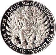 750 rupiah (Indépendance) – revers