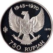 750 rupiah (Indépendance) – avers