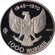 1 000 rupiah (Indépendance) – avers