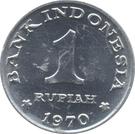1 rupiah – revers