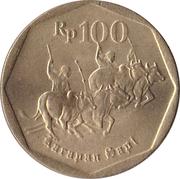 100 rupiah -  revers