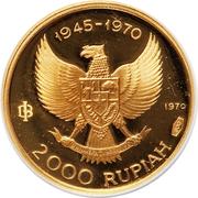 2000 Rupiah (Great Bird of Paradise) – avers