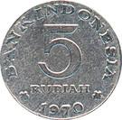 5 rupiah – revers