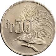 50 rupiah – avers