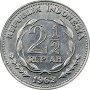 2½ rupiah (Essai) – avers