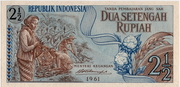 2½ Rupiah (1961 Issue) – avers