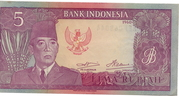 5 Rupiah (Dated 1960, Issued 1964) – avers