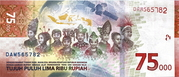 75,000 Rupiah - 75 Years of Independence -  revers