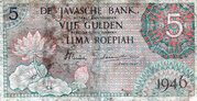 5 Gulden (De Javasche Bank) – avers